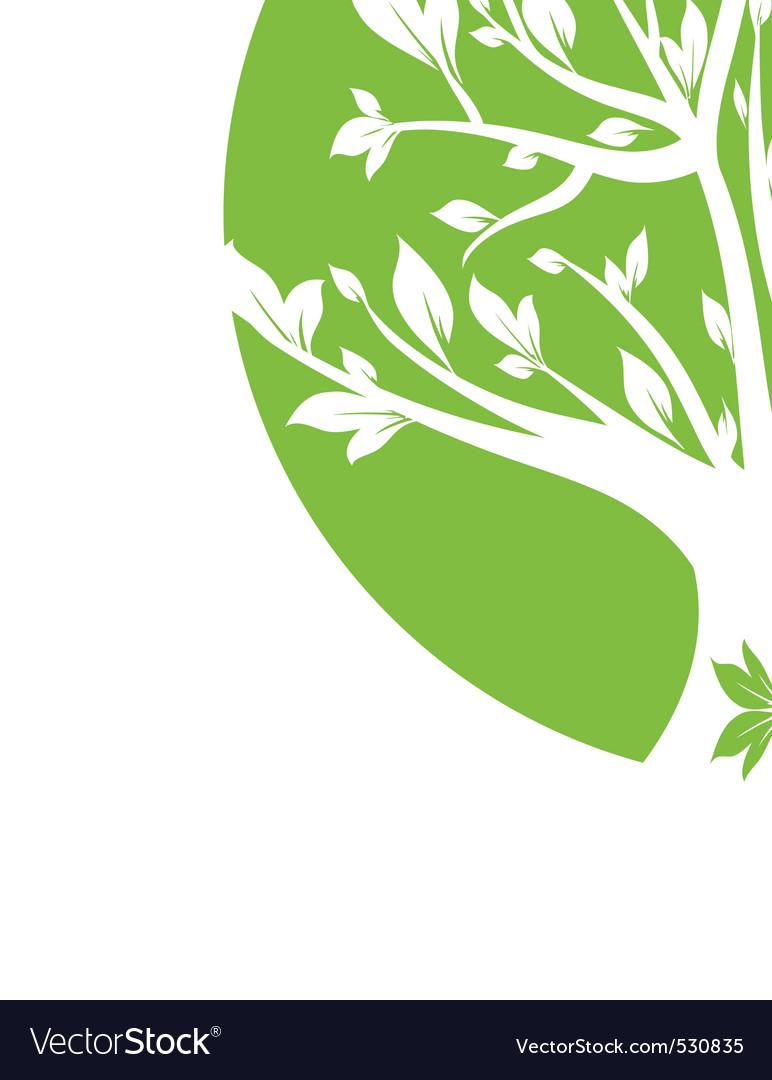 Abstract green art tree closeup vector | Price: 1 Credit (USD $1)