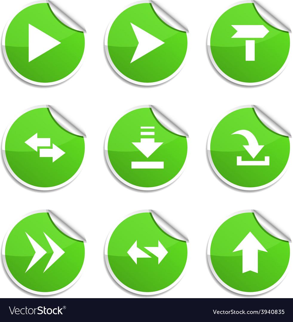 Arrows stickers vector   Price: 1 Credit (USD $1)