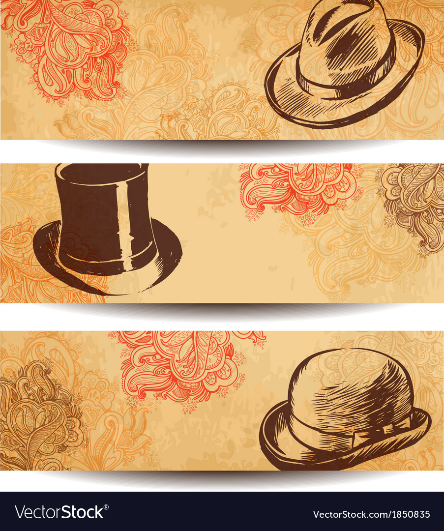 Collection of vintage hats vector | Price: 1 Credit (USD $1)