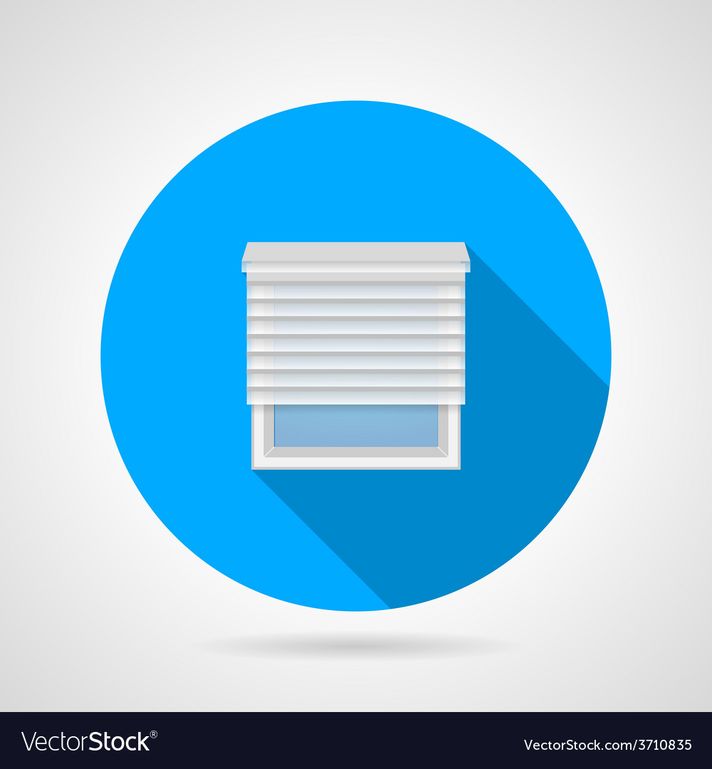 Flat round icon for window with jalousie vector | Price: 1 Credit (USD $1)