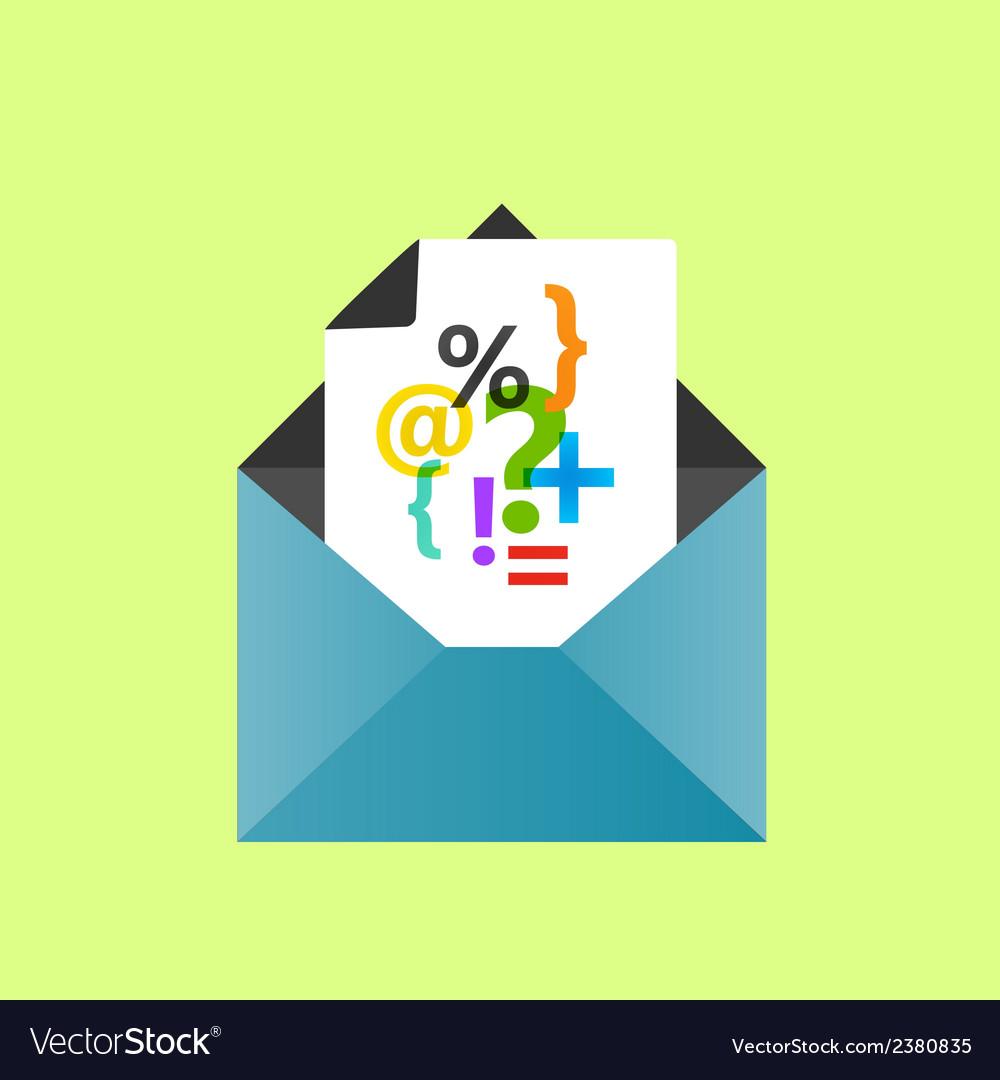 Icon open envelope with a letter eps10 vector | Price: 1 Credit (USD $1)