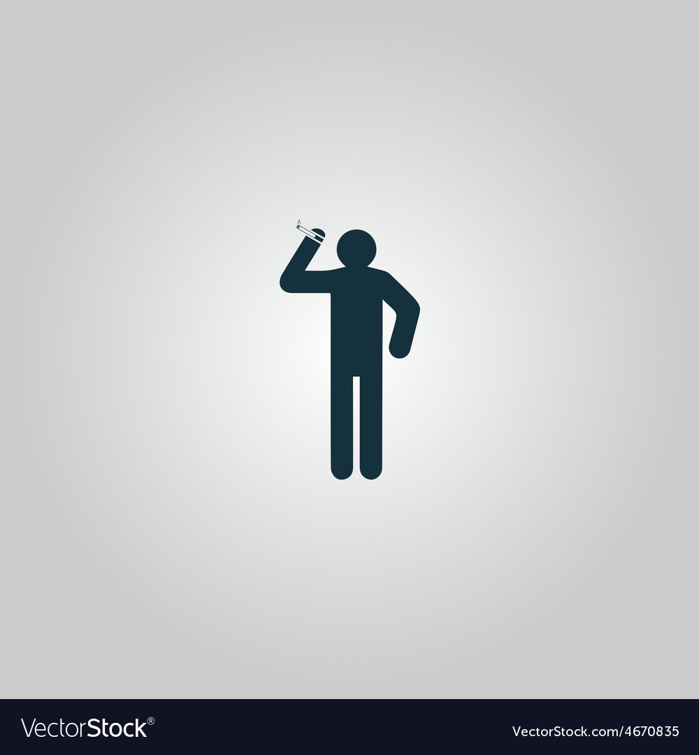 Man with a cigarette vector | Price: 1 Credit (USD $1)