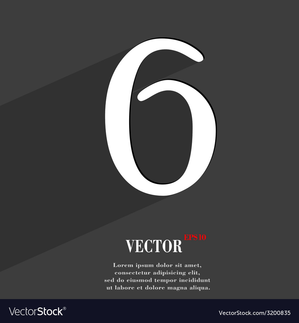 Number six icon symbol flat modern web design with vector   Price: 1 Credit (USD $1)