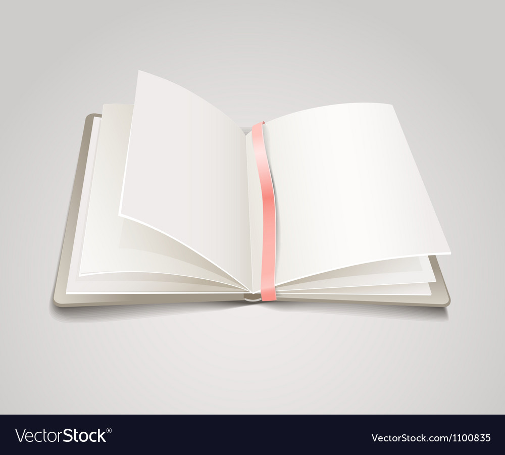 Open paper book with the bookmark vector | Price: 1 Credit (USD $1)