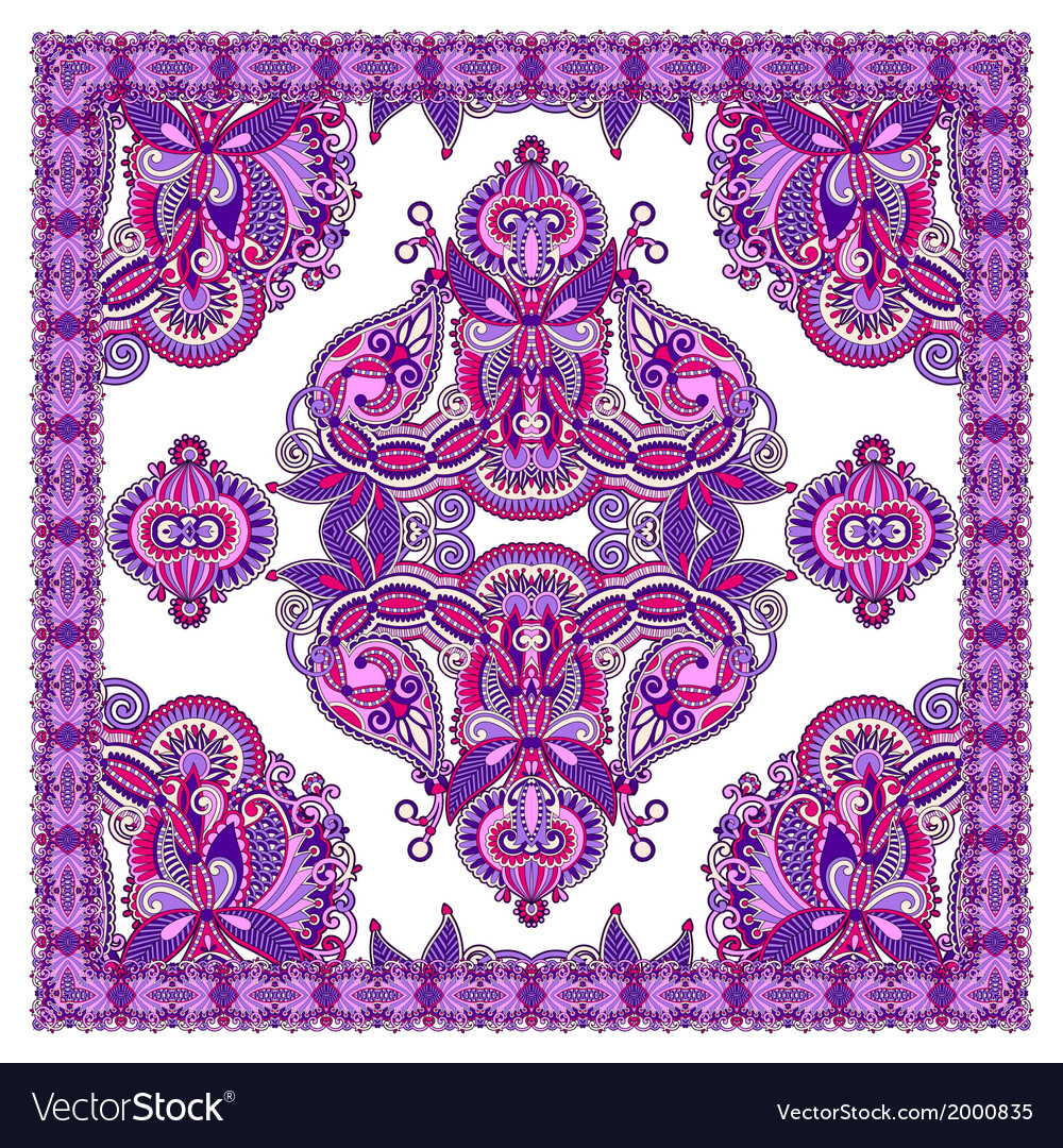 Ornamental floral paisley bandana vector | Price: 1 Credit (USD $1)