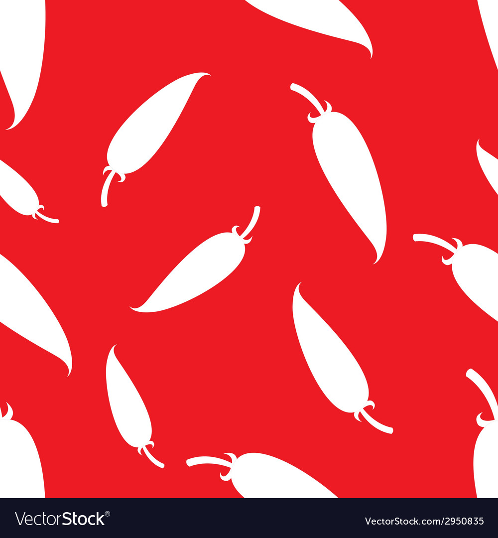 Pattern silhouette red papper vector | Price: 1 Credit (USD $1)