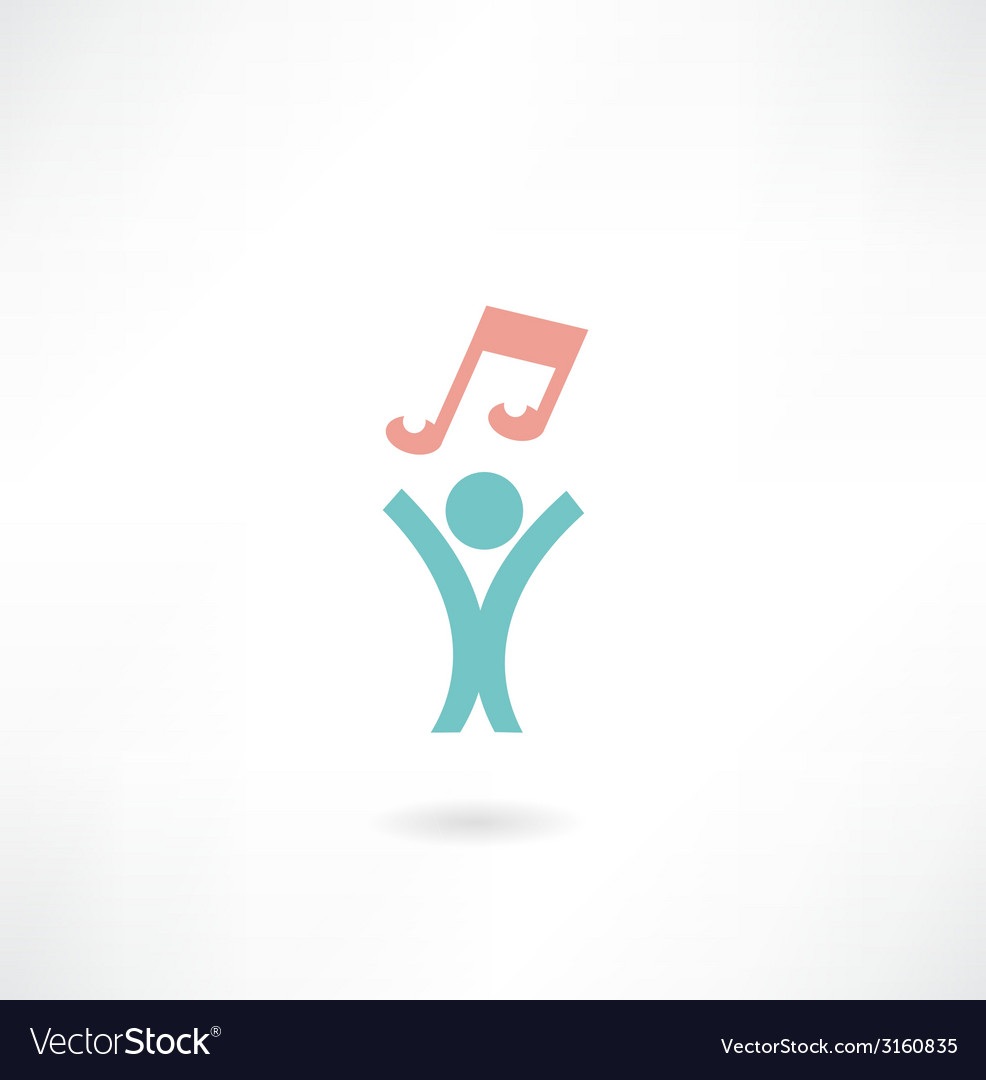 People with music icon vector | Price: 1 Credit (USD $1)