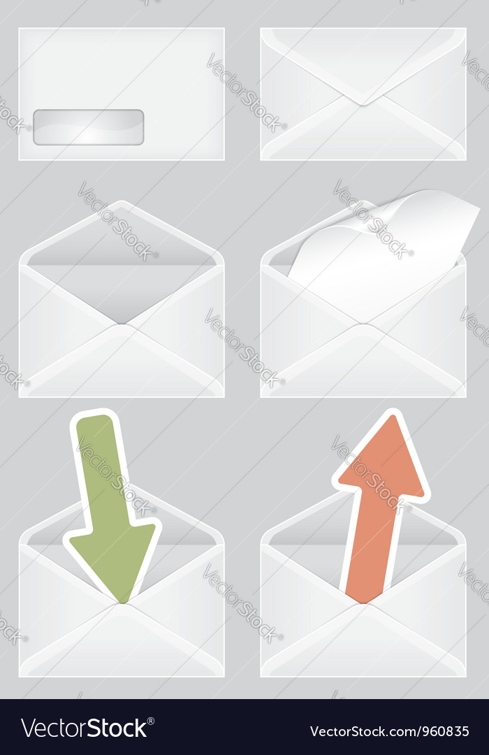 Set of envelopes vector | Price: 1 Credit (USD $1)