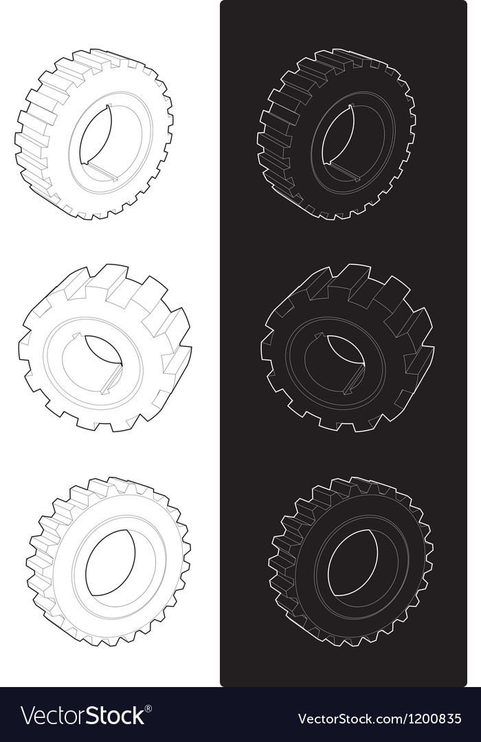 Steel gears vector | Price: 1 Credit (USD $1)