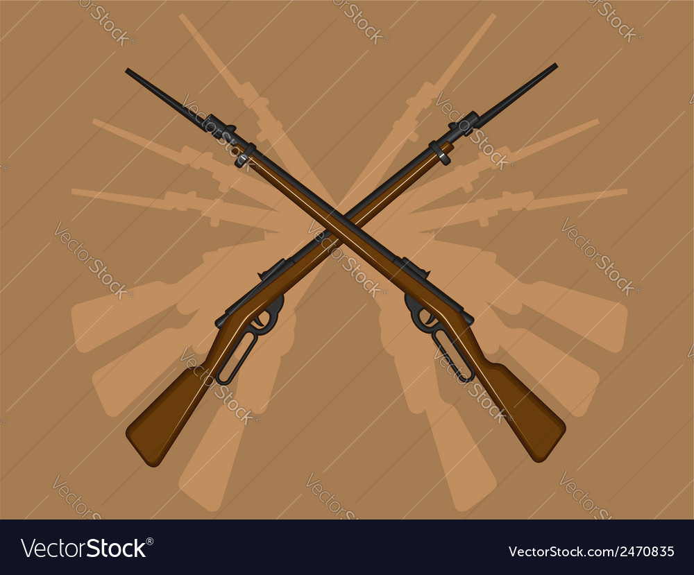 World war ii rifle with bayonet vector | Price: 1 Credit (USD $1)