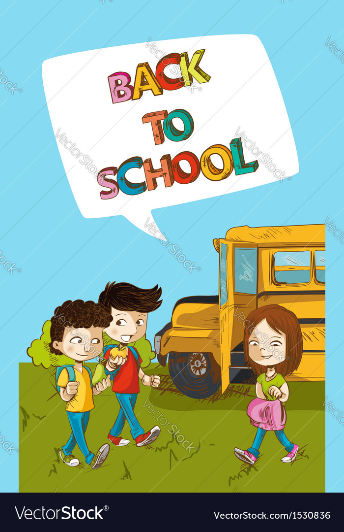 Back to school education kids with social bubble vector | Price: 1 Credit (USD $1)