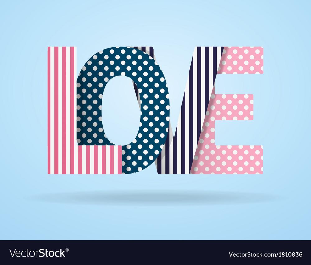 Background vintage letter love vector | Price: 1 Credit (USD $1)
