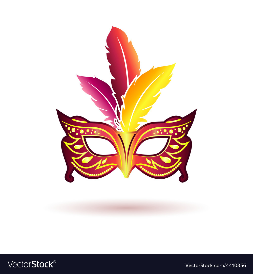 Carnival mask with feathers vector | Price: 1 Credit (USD $1)