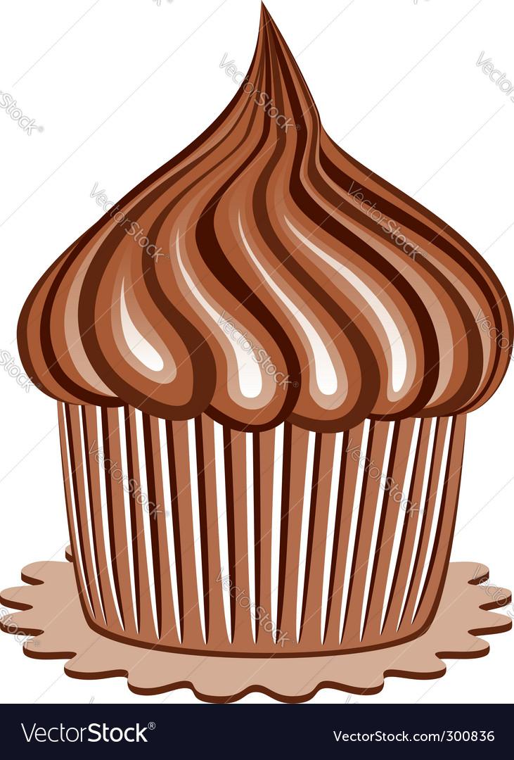 Chocolate cupcake vector | Price: 1 Credit (USD $1)