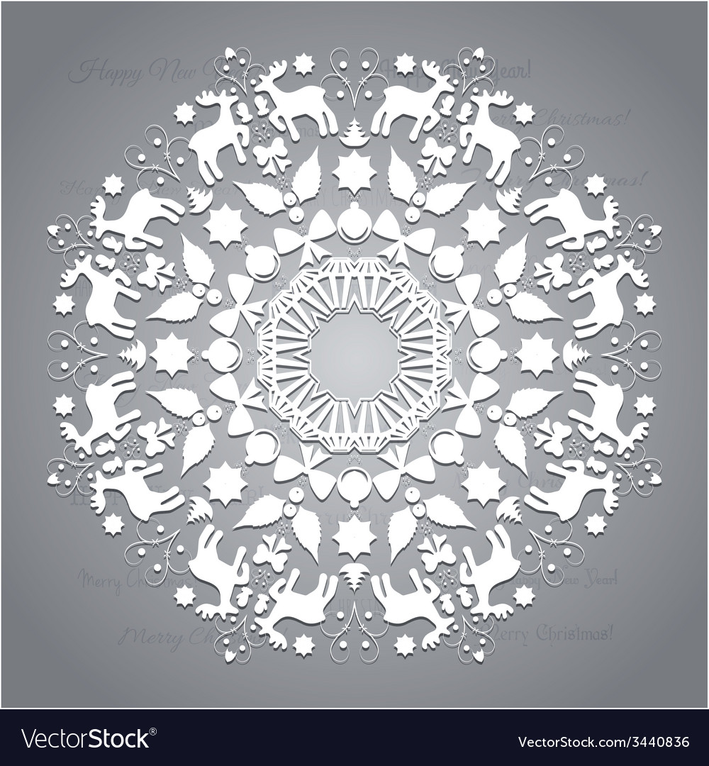 Circle ornament round ornamental geometric pattern vector | Price: 1 Credit (USD $1)