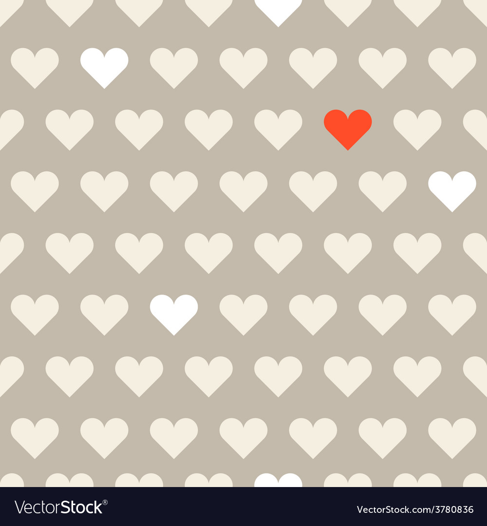 Different hearts shapes seamless pattern vector | Price: 1 Credit (USD $1)