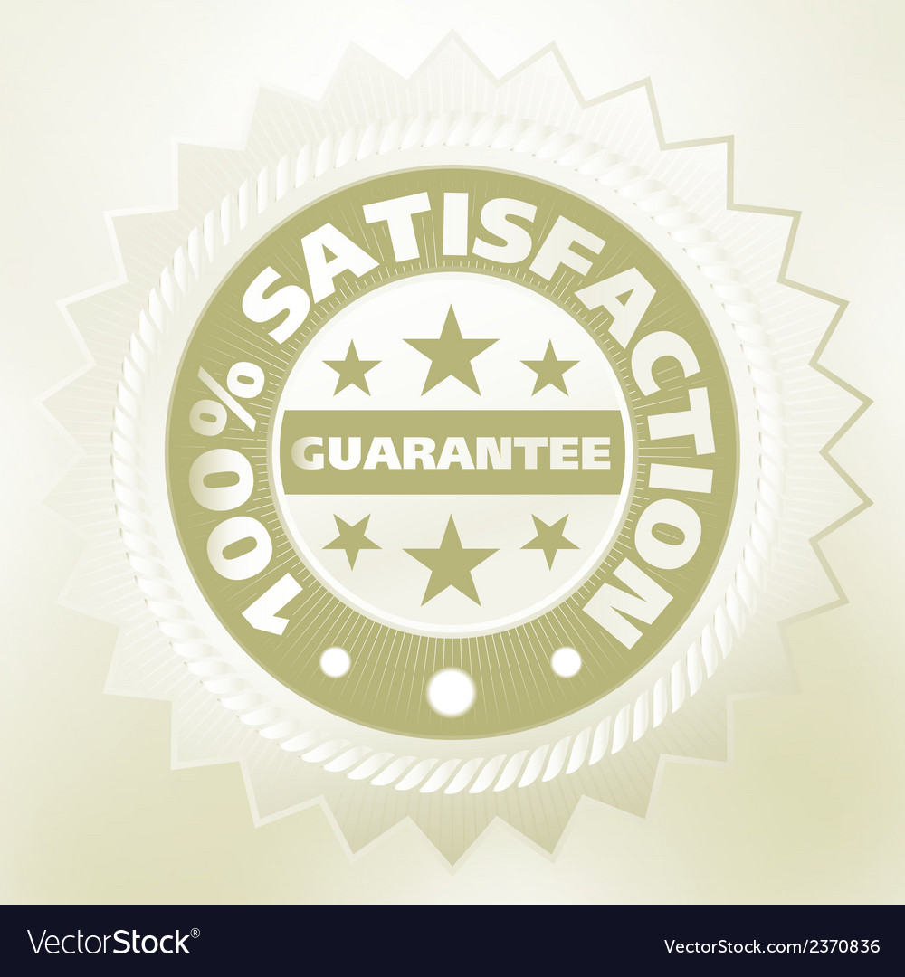 Elegant vintage satisfaction label eps 8 vector | Price: 1 Credit (USD $1)