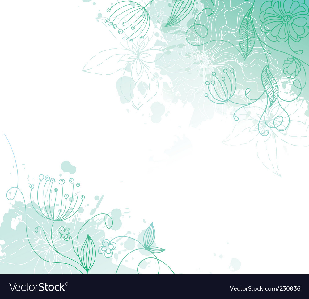 Floral back splash vector | Price: 1 Credit (USD $1)