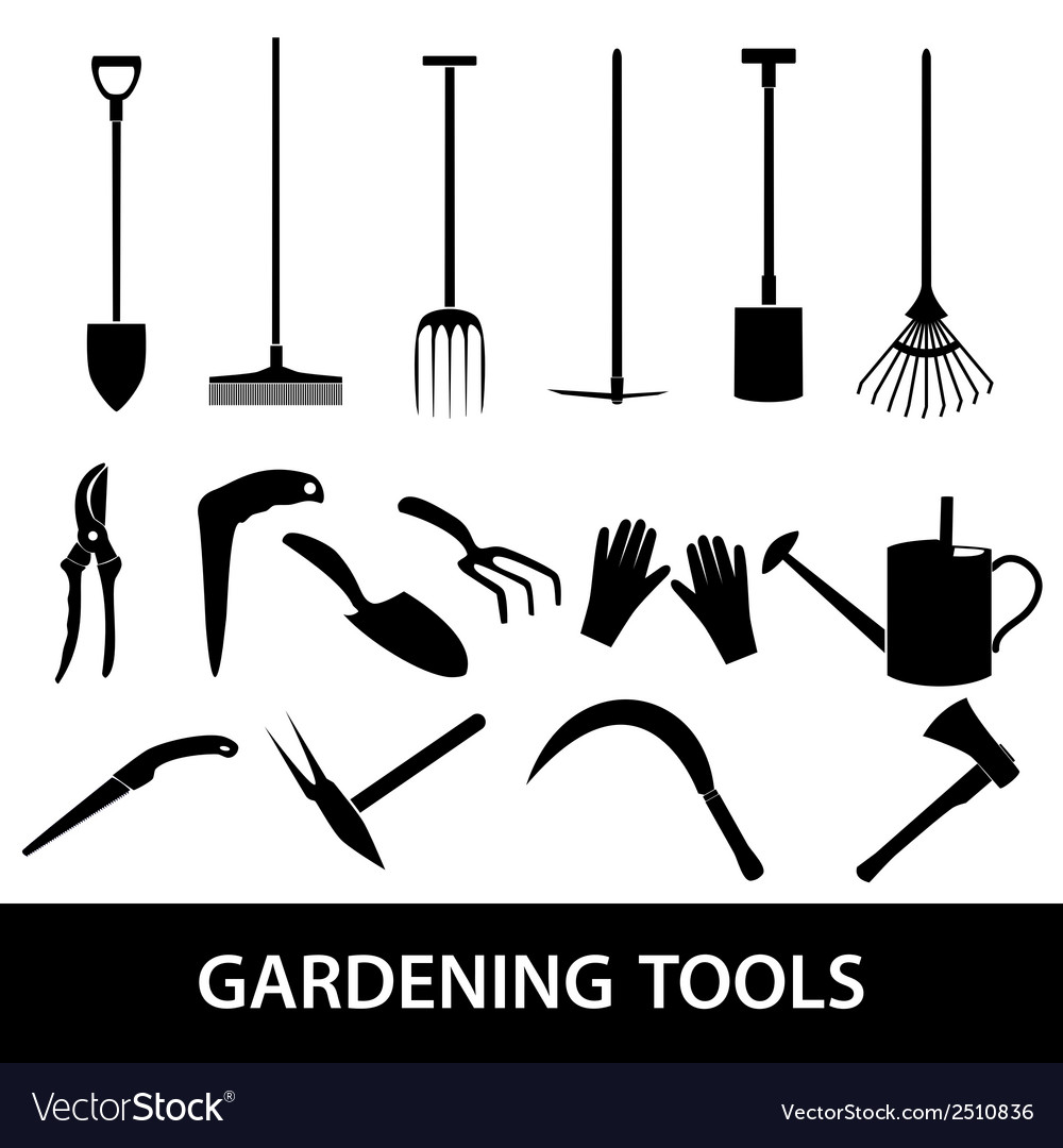 Gardening tools icons eps10 vector | Price: 1 Credit (USD $1)