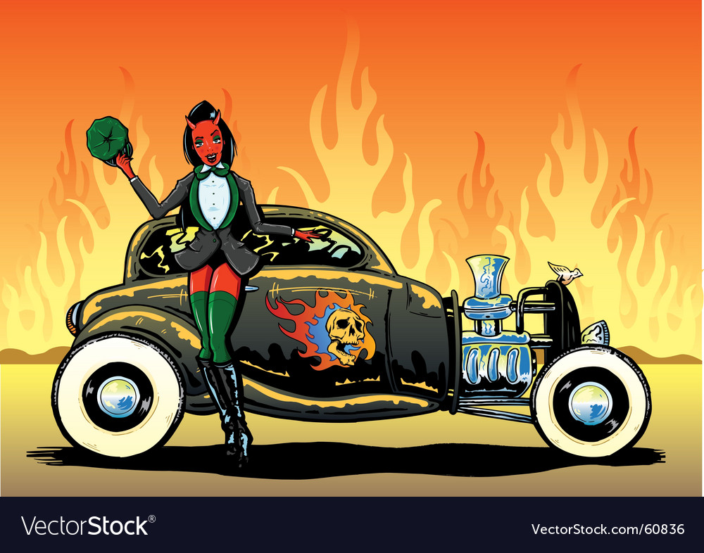Hotrod to hell vector | Price: 3 Credit (USD $3)