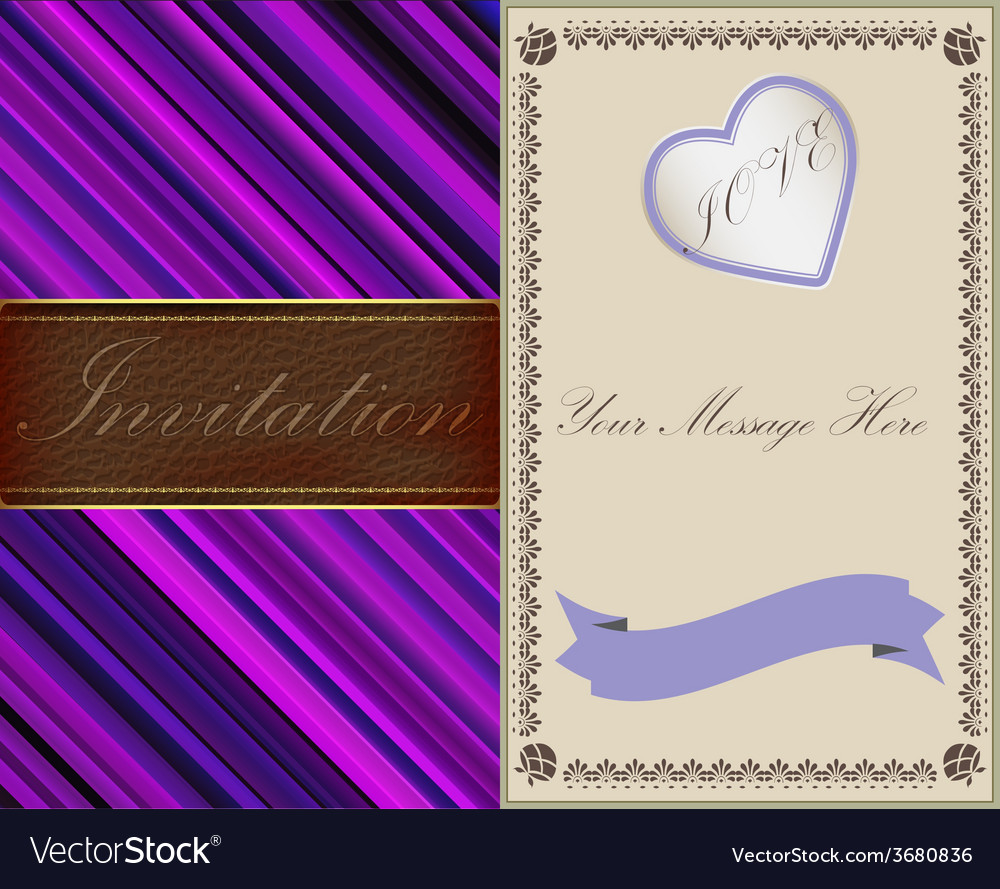 Invitation cards in an old-style gold and leather vector | Price: 1 Credit (USD $1)