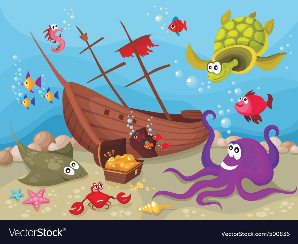Sea life vector | Price: 5 Credit (USD $5)