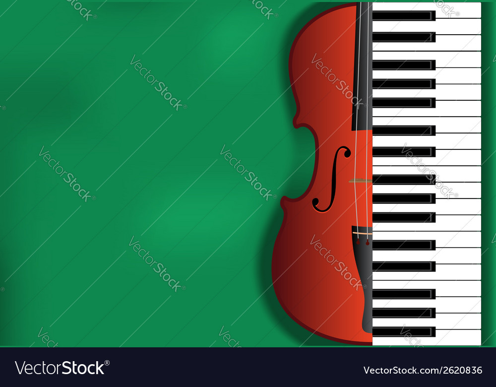 Violin piano background vector | Price: 1 Credit (USD $1)