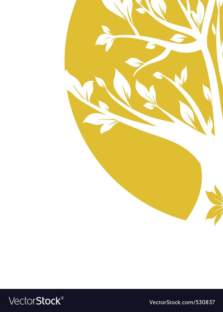 Abstract yellow art tree closeup vector | Price: 1 Credit (USD $1)