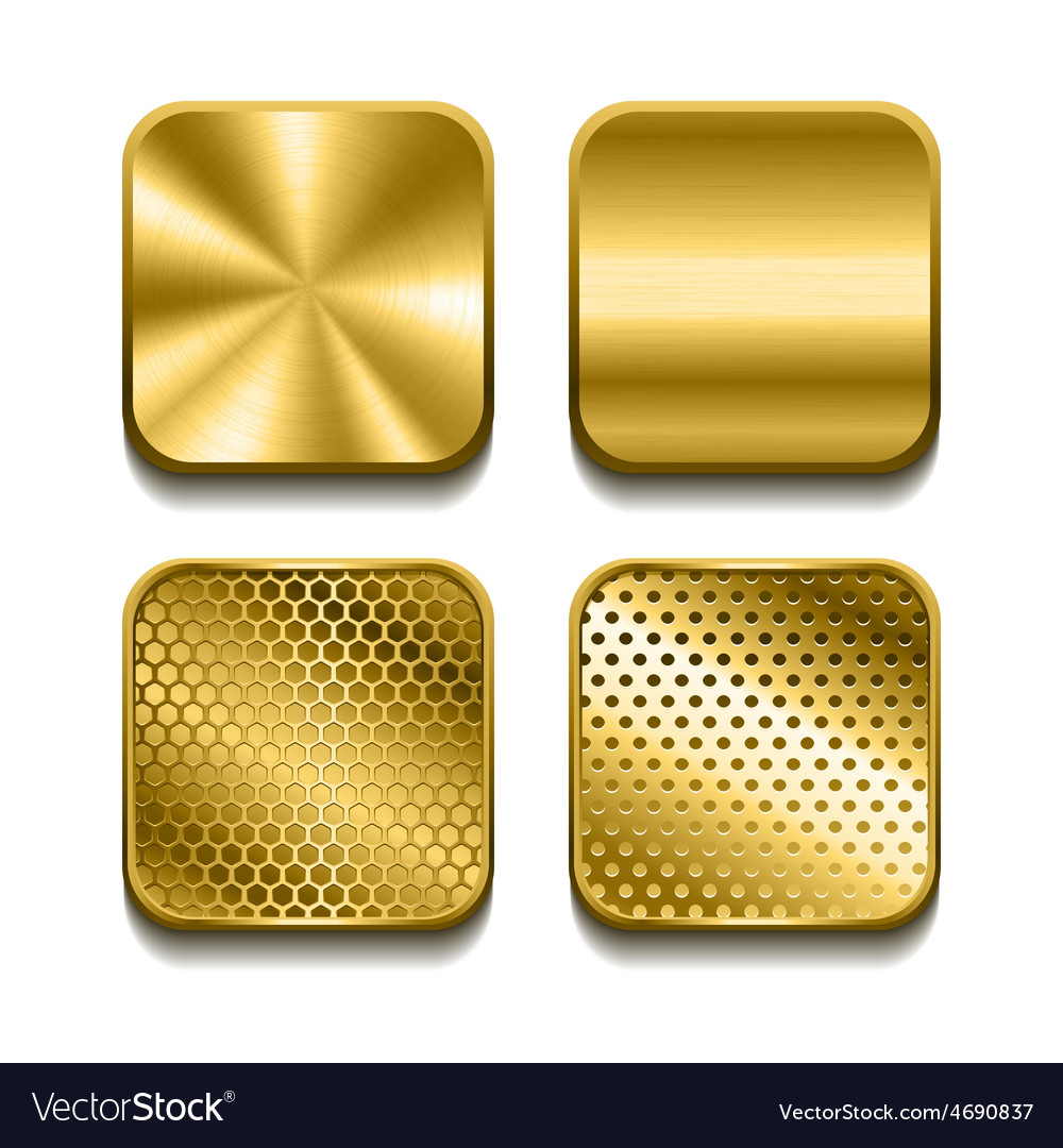 Apps metal icon set vector | Price: 3 Credit (USD $3)
