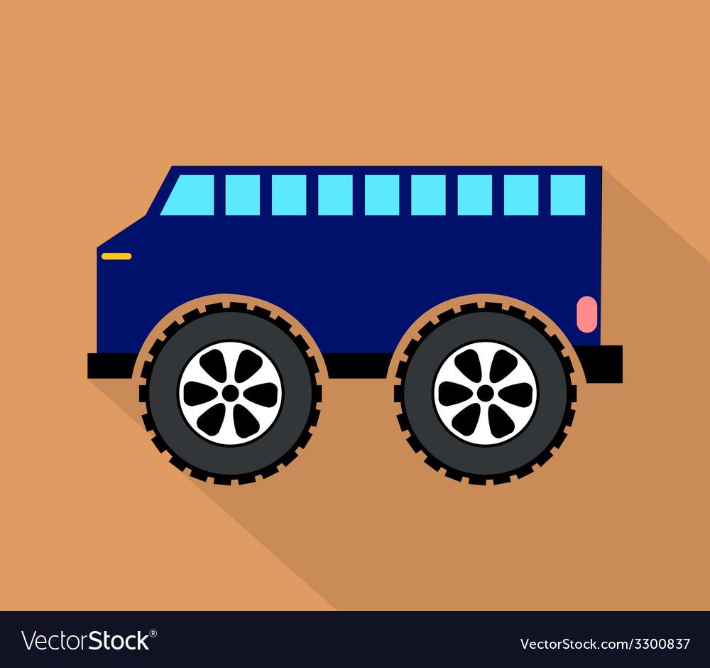 Blue truck vector | Price: 1 Credit (USD $1)