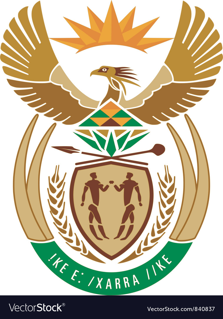 Coat of arms of south africa vector | Price: 1 Credit (USD $1)