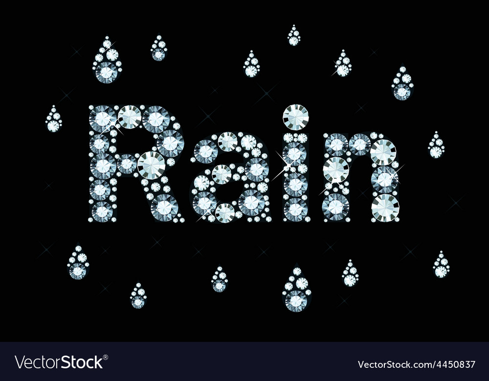 Diamond word rain vector | Price: 1 Credit (USD $1)