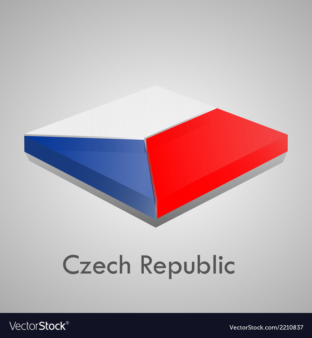 European flags set - czech republic vector | Price: 1 Credit (USD $1)
