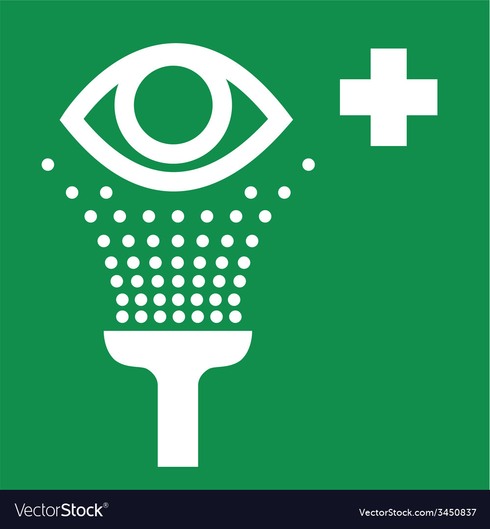Eye wash safety sign vector