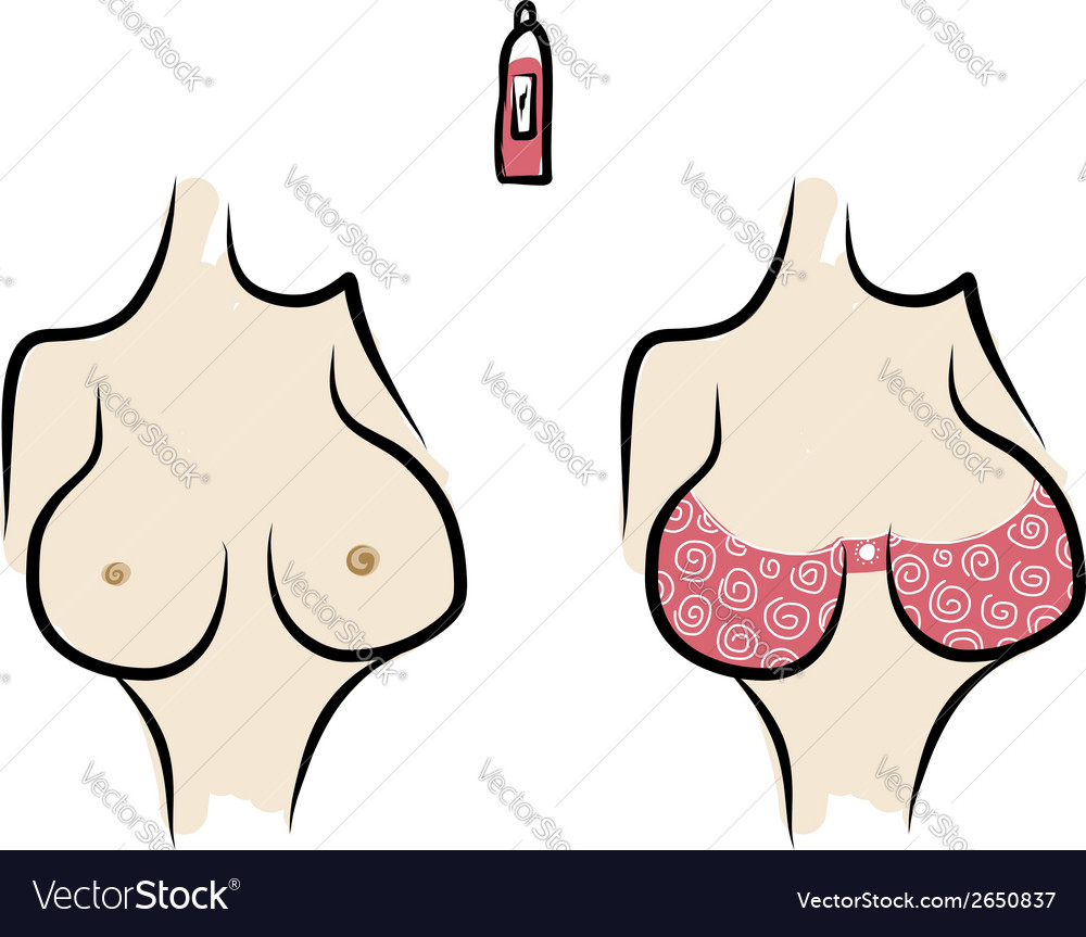 Female breast sketch for your design vector | Price: 1 Credit (USD $1)