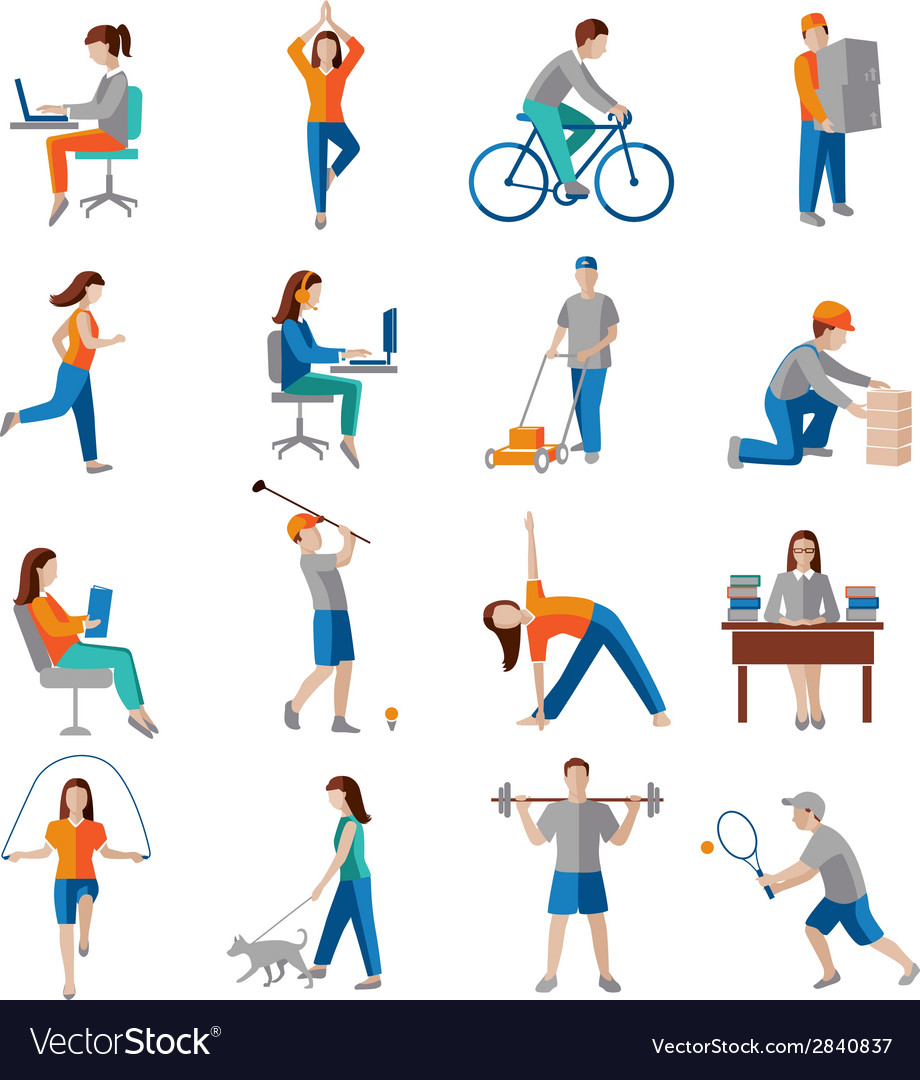 Physical activity icons vector | Price: 1 Credit (USD $1)