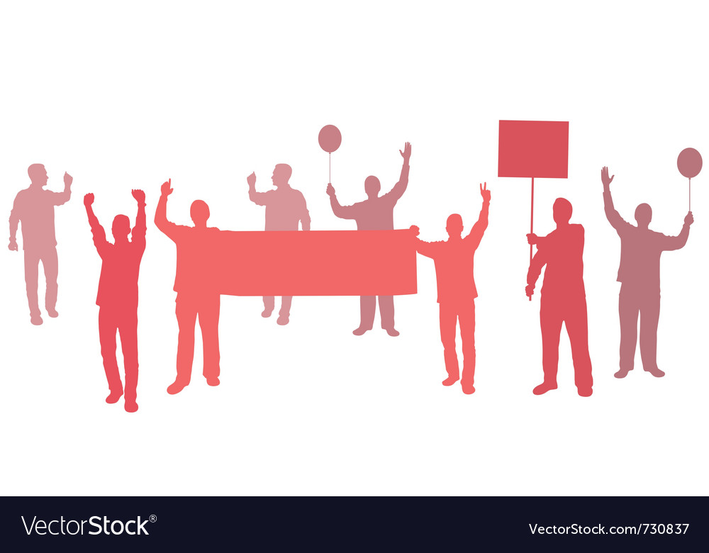 Protest with banners for your text vector | Price: 1 Credit (USD $1)