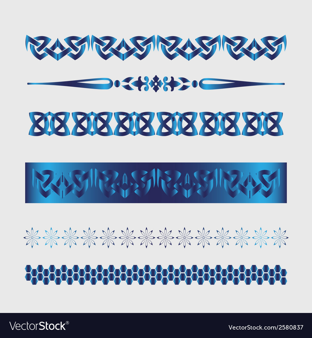 Set of lines element for border design set vector | Price: 1 Credit (USD $1)
