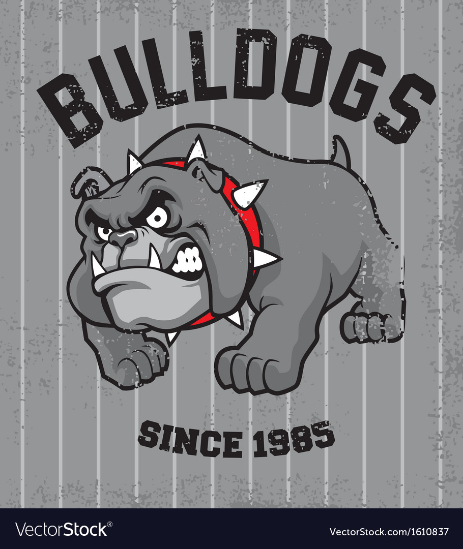 Vintage bulldog mascot vector | Price: 1 Credit (USD $1)