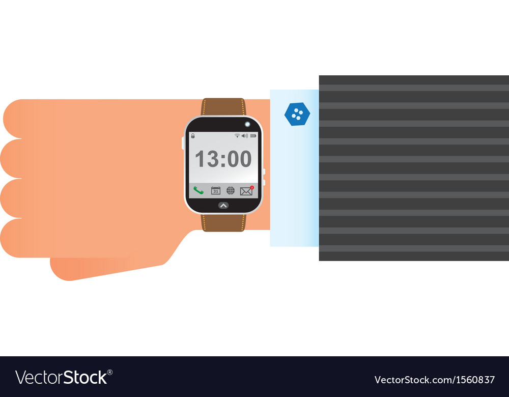 Wristwatch smart clock vector | Price: 1 Credit (USD $1)