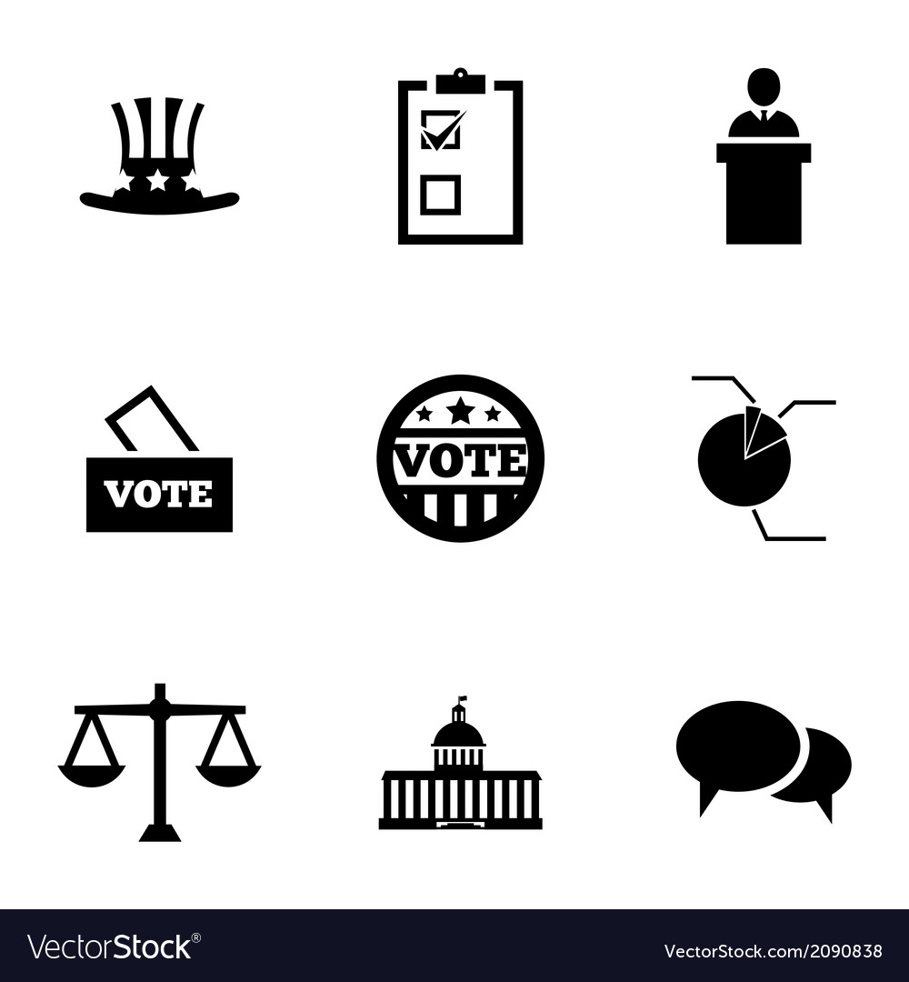 Black electiion icons set vector | Price: 1 Credit (USD $1)
