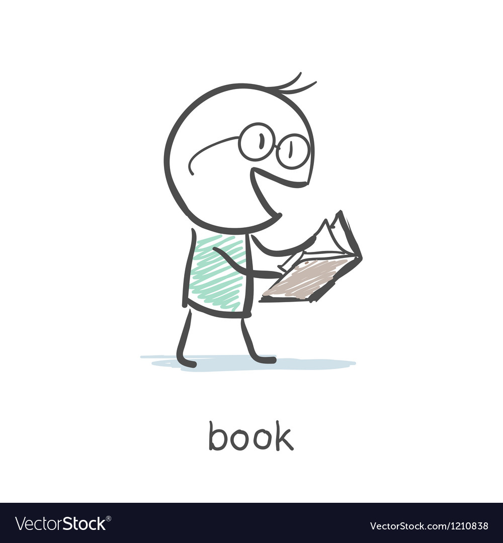 Book reader vector | Price: 1 Credit (USD $1)