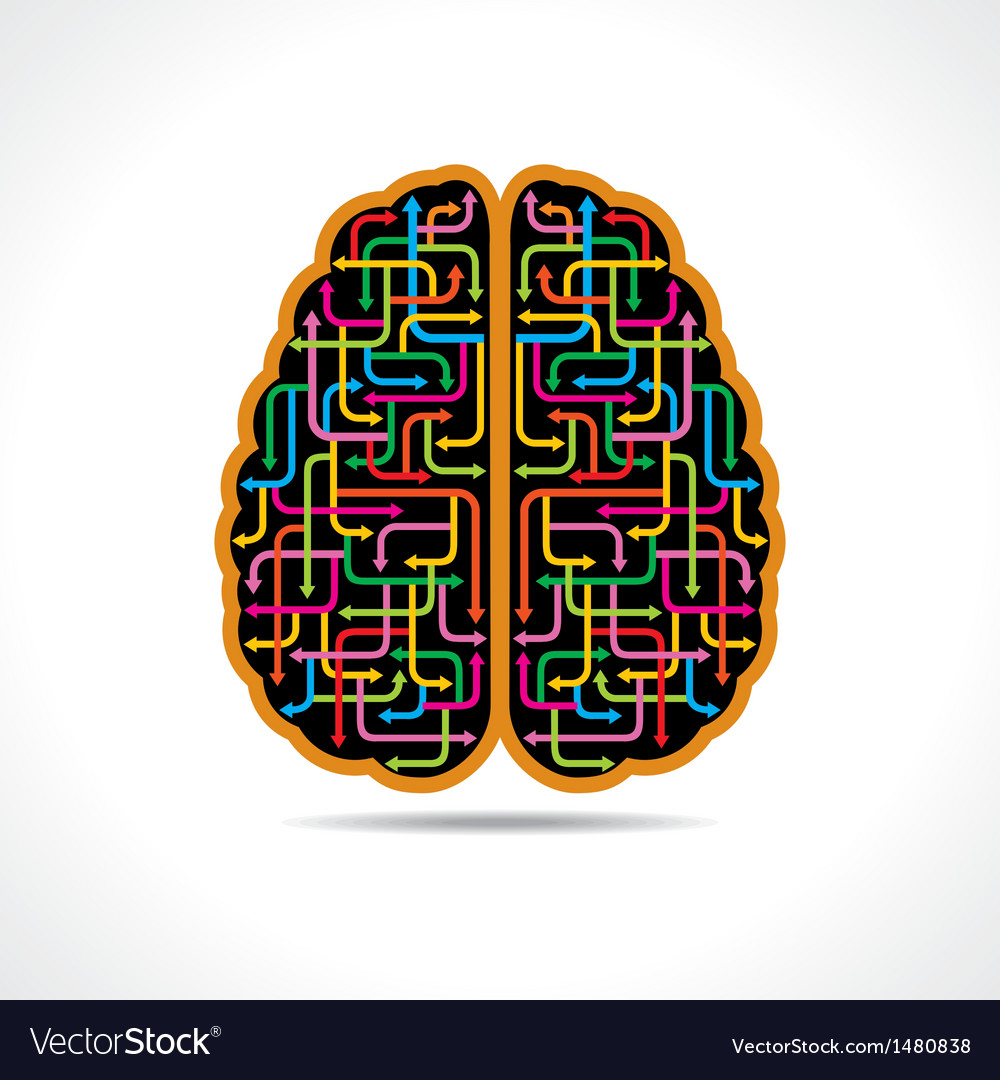 Brain forming of colorful arrows vector | Price: 1 Credit (USD $1)