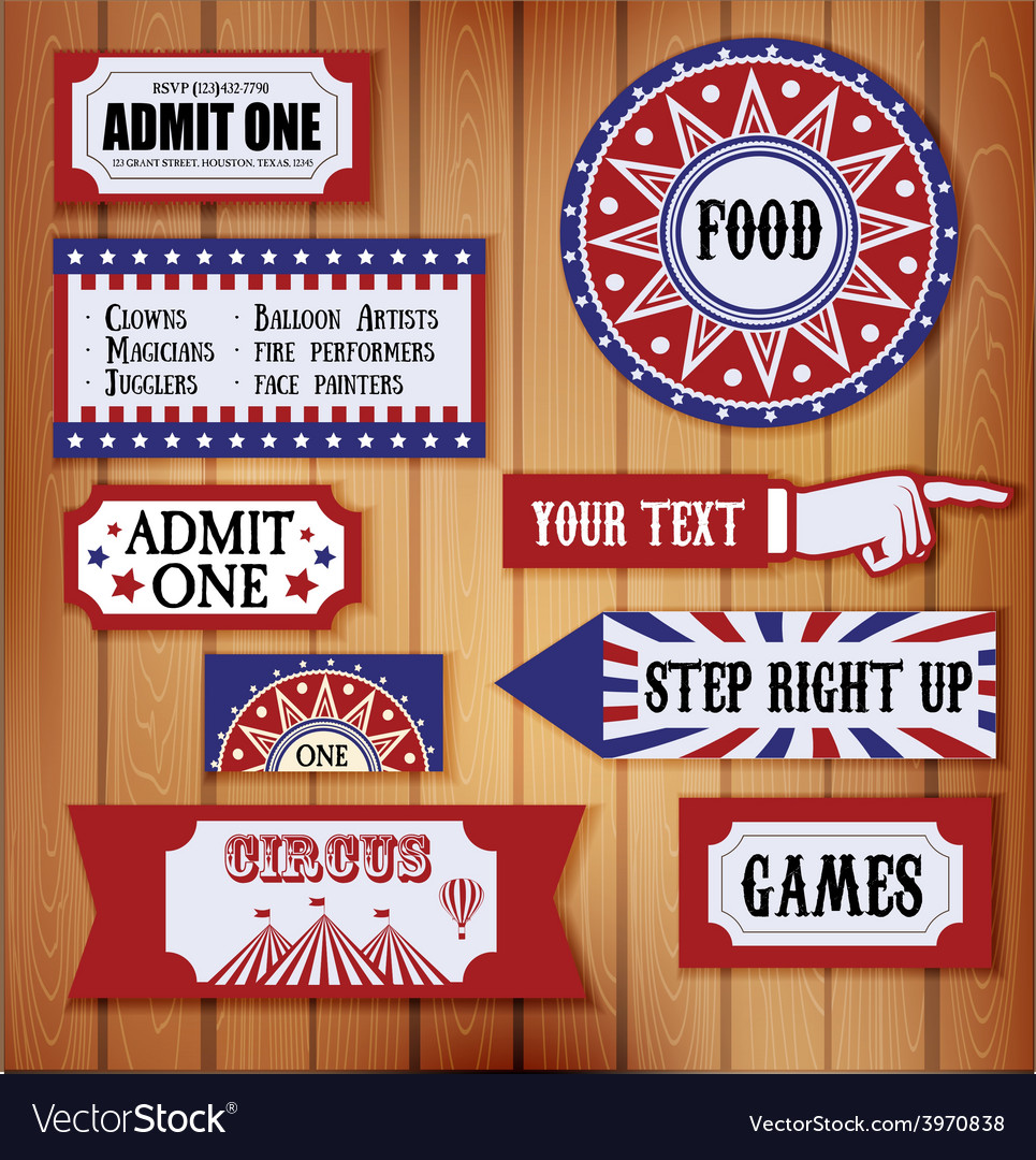 Carnival signs vector | Price: 1 Credit (USD $1)