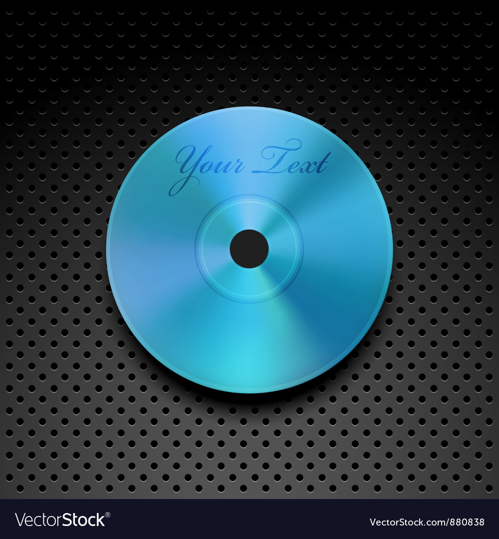 Compact disc on a metallic background vector | Price: 1 Credit (USD $1)