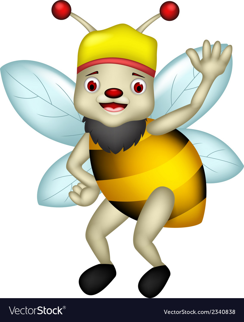 Cute bee cartoon thumb up vector | Price: 1 Credit (USD $1)