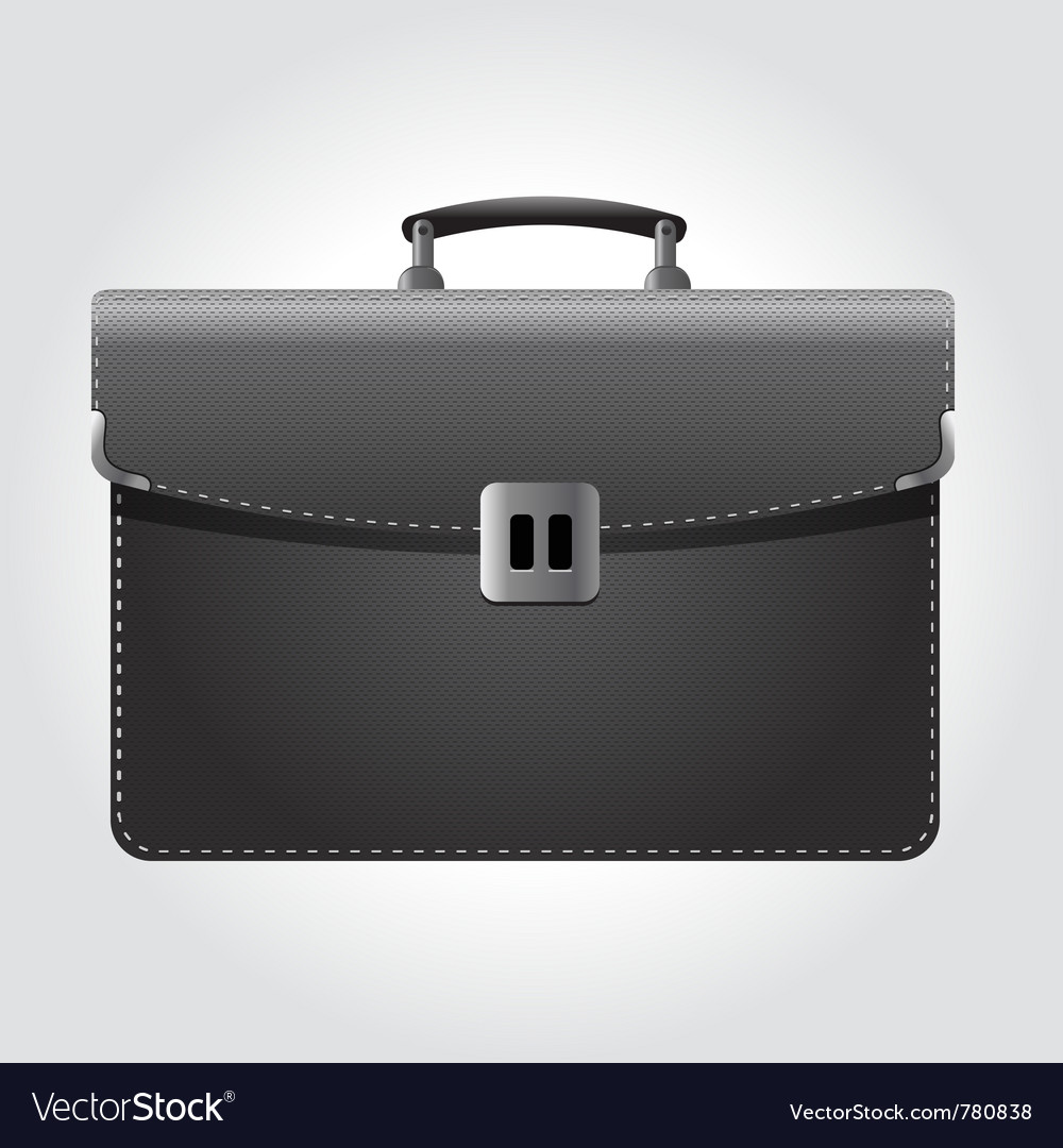 Dark briefcase icon vector | Price: 3 Credit (USD $3)