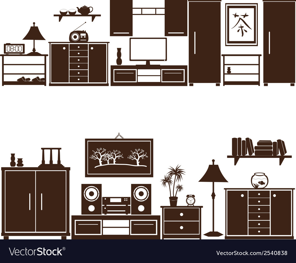 Furniture sets eps10 vector | Price: 1 Credit (USD $1)