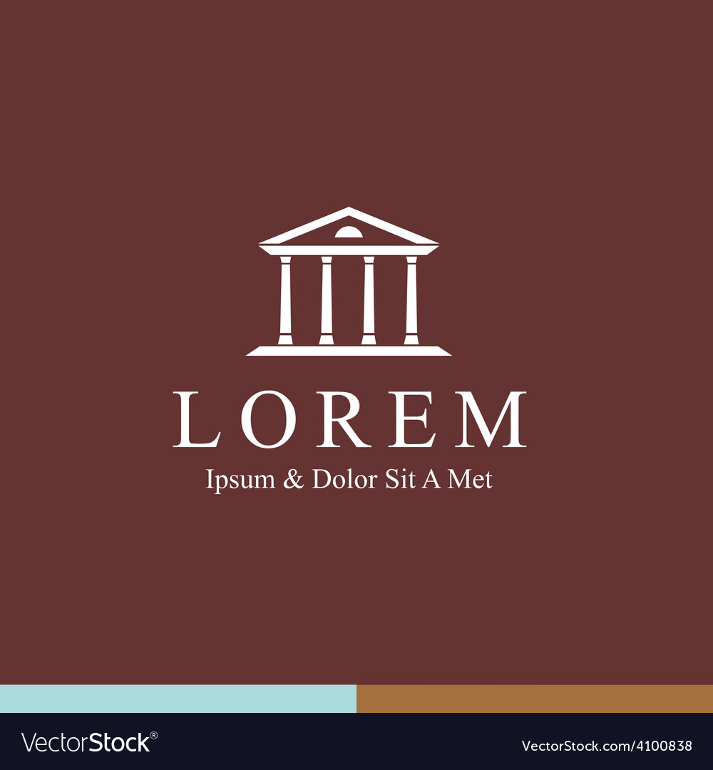Lawyer logo design template justice palace vector
