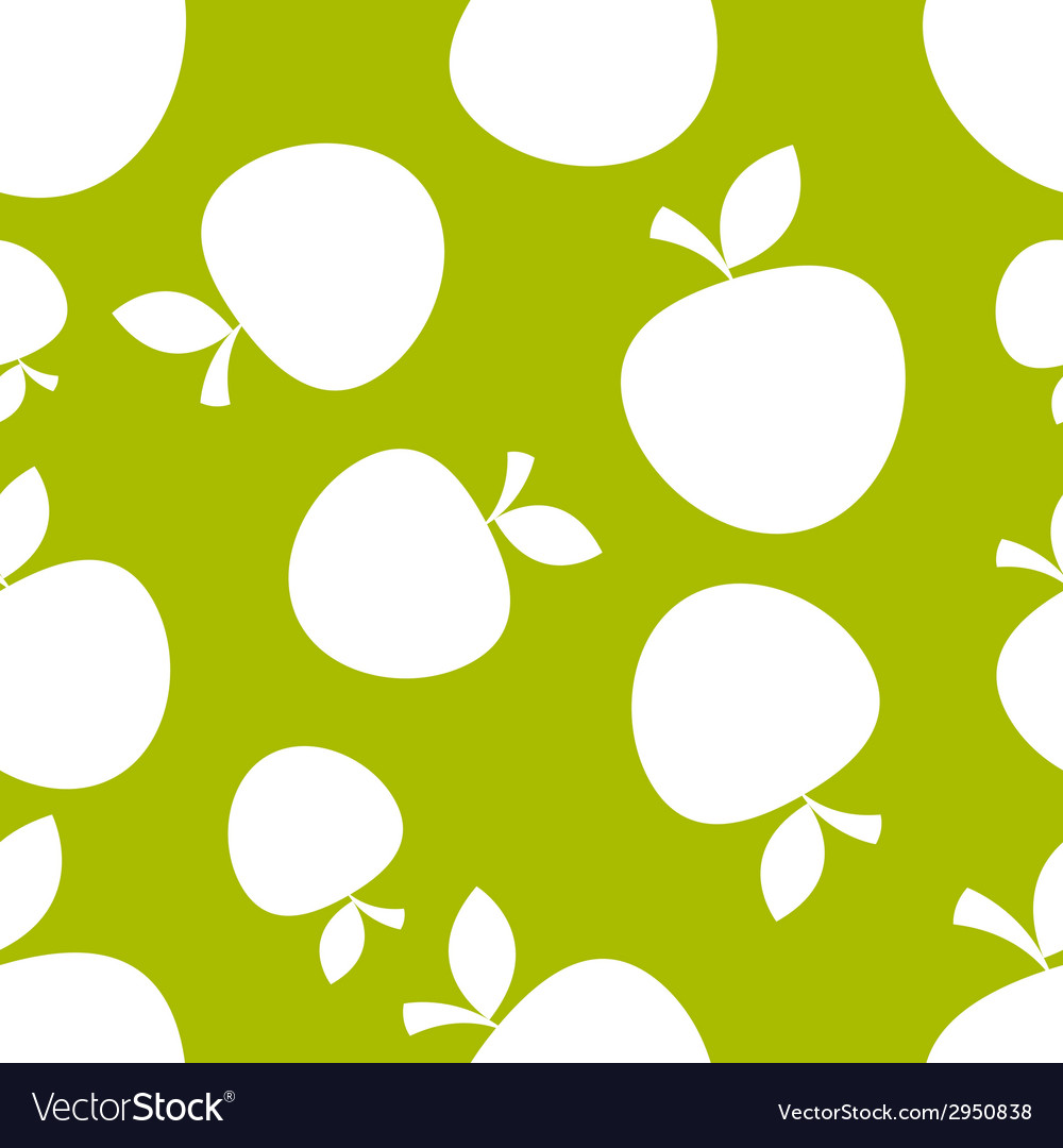 Pattern silhouette apples vector | Price: 1 Credit (USD $1)